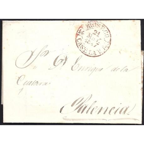1847. ESPAÑA. SPAIN. RIOSECO A PALENCIA.