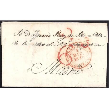 1842. ESPAÑA. SPAIN. SALAMANCA A MADRID.