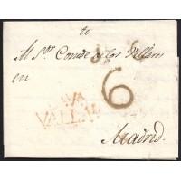 1826. ESPAÑA. SPAIN. VALLADOLID A MADRID.