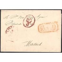 1853. ESPAÑA. SPAIN. VALLADOLID A MADRID.