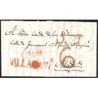 1826. ESPAÑA. S PAIN. VILLACASTIN A MADRID.