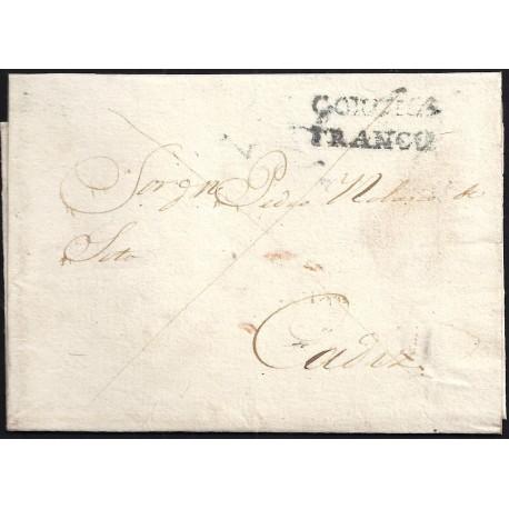 1839. ESPAÑA. SPAIN. CORUÑA A CADIZ.