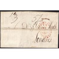 1814. ESPAÑA. SPAIN. CORUÑA A LONDRES.