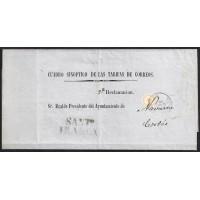 1860. ESPAÑA. SPAIN. SANTIAGO A CORTES.