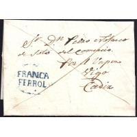 1839. ESPAÑA. SPAIN. CASTILLO DE SAN FELIPE A CADIZ.