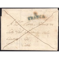 1835. ESPAÑA. SPAIN. SANGENJO A CADIZ.