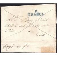 1839. ESPAÑA. SPAIN. SANGENJO A CADIZ.