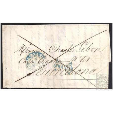 1843. ESPAÑA. SPAIN. MADRID A BARCELONA.