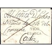 1834. ESPAÑA. SPAIN. VIGO A CADIZ.