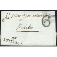 1841. ESPAÑA. SPAIN. GIJON A RIVADEO.