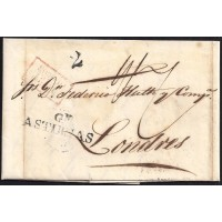 1838. ESPAÑA. SPAIN. GIJON A LONDRES.