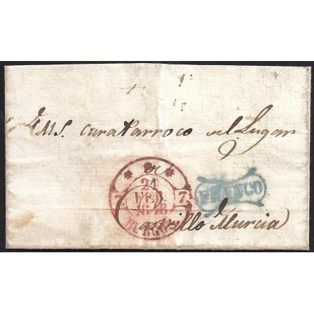 1848. ESPAÑA. SPAIN. BURGOS A CASTRILLO DE MURCIA.