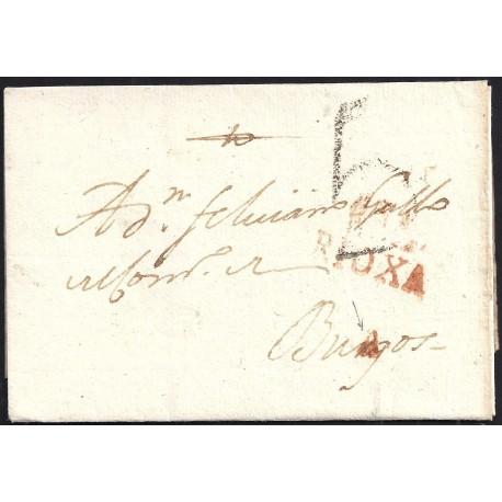 1814. ESPAÑA. SPAIN. MIRANDA DE EBRO A BURGOS.