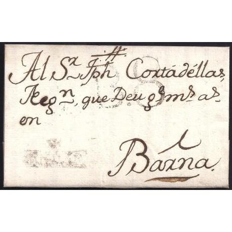 1779. ESPAÑA. SPAIN. CALAF A BARCELONA.