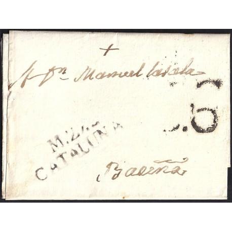 1814. ESPAÑA. SPAIN. MONTBLANCH A BARCELONA.