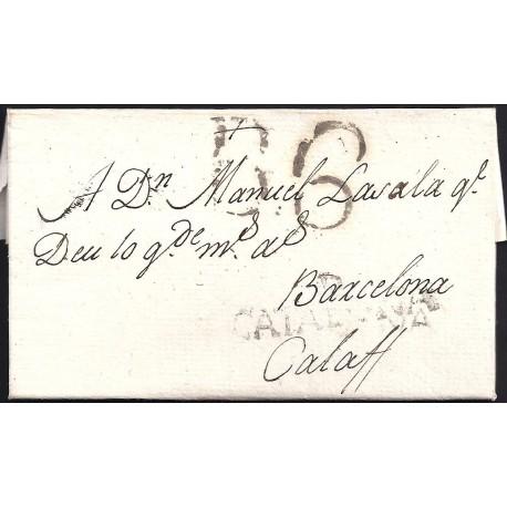 1797. ESPAÑA. SPAIN. REUS A CALAF.