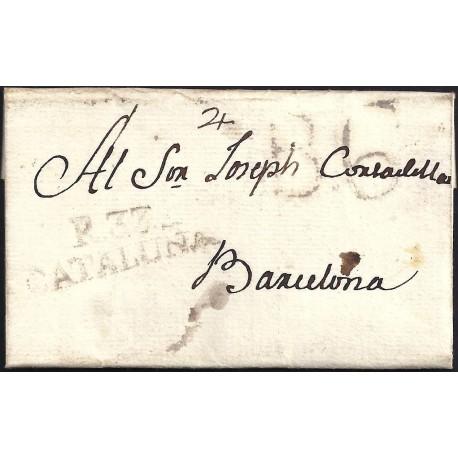 1806. ESPAÑA. SPAIN. REUS A BARCELONA.
