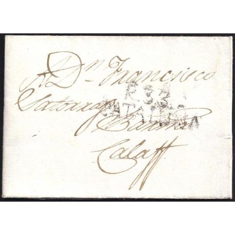 1822. ESPAÑA. SPAIN. REUS A CALAF.