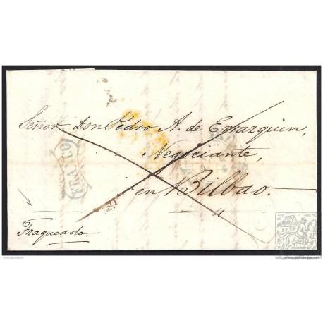1844. ESPAÑA. SPAIN. MADRID A BILBAO.