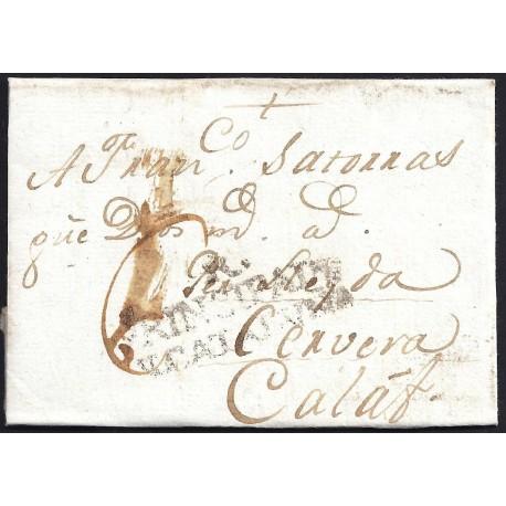1784. ESPAÑA. SPAIN. REUS A CALAF.