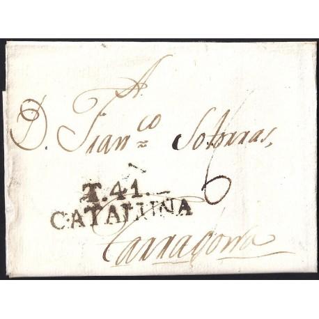 1807. ESPAÑA. SPAIN. TORTOSA A TARRAGONA.