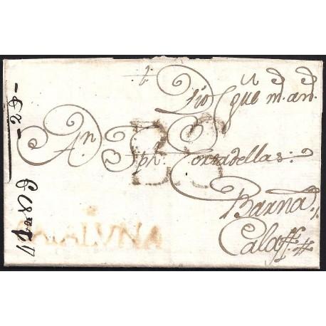 1790. ESPAÑA. SPAIN. ULLDECONA A CALAF.