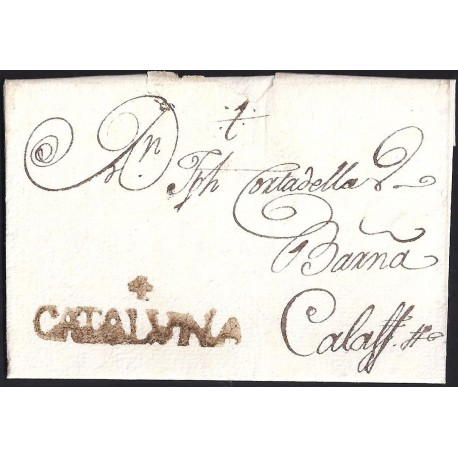 1794. ESPAÑA. SPAIN. ULLDECONA A CALAF.