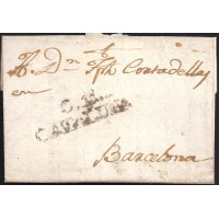 1805. ESPAÑA. SPAIN. CARDONA A BARCELONA.