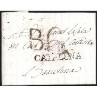 1808. ESPAÑA. SPAIN. CASTELLO DE AMPURIES A BARCELONA.