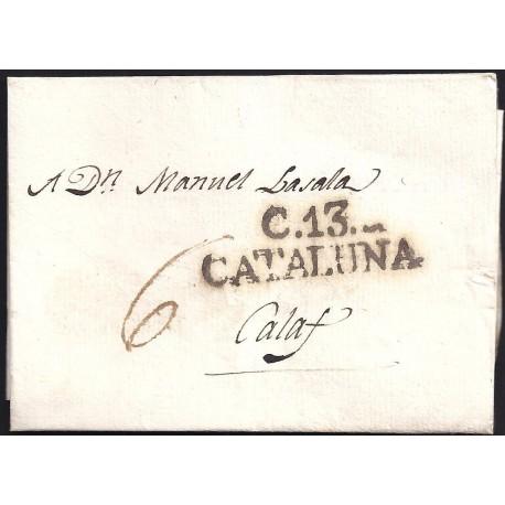 1803. ESPAÑA. SPAIN. CERVERA A CALAF.