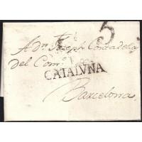 1799. ESPAÑA. SPAIN. CASTELLO DE AMPURIES A BARCELONA.