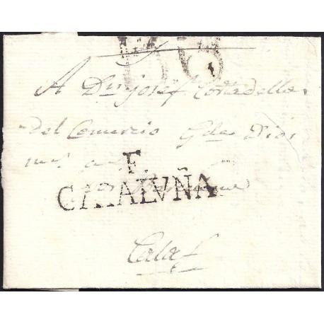 1801. ESPAÑA. SPAIN. CASTELLO DE AMPURIES A CALAF.