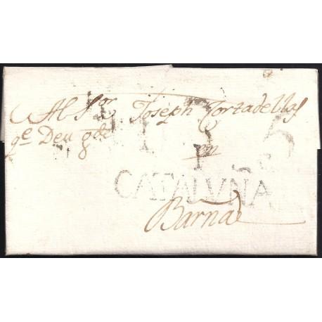 1796. ESPAÑA. SPAIN. IGUALADA A BARCELONA.