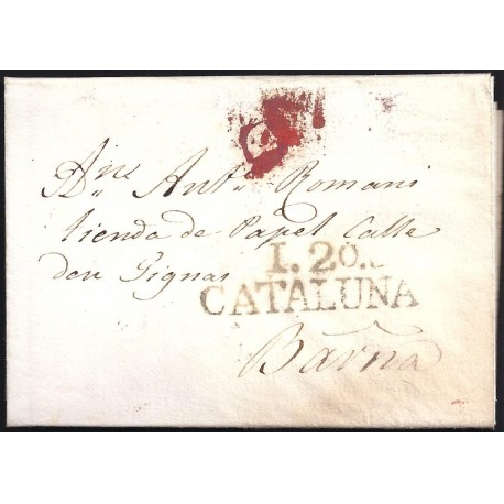 1829. ESPAÑA. SPAIN. IGUALADA A BARCELONA.