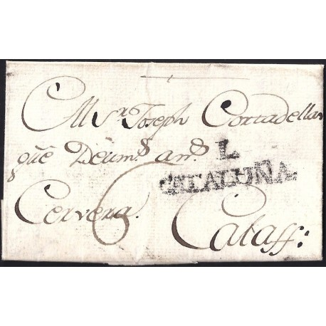 1794. ESPAÑA. SPAIN. ALMENAR A CALAF.