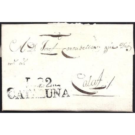 1806. ESPAÑA. SPAIN. LLEIDA A CALAF.