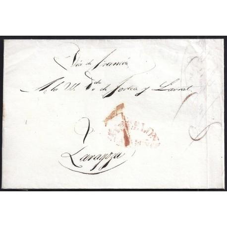 1839. ESPAÑA. SPAIN. SABADELL A ZARAGOZA