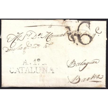 1808. ESPAÑA. SPAIN. AGRAMUNT A BARCELONA.