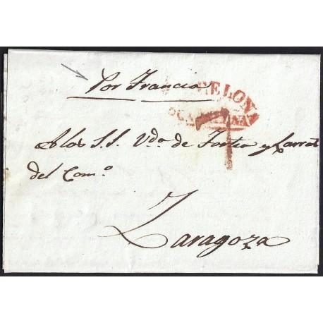 1839. ESPAÑA. SPAIN. SABADELL A ZARAGOZA.