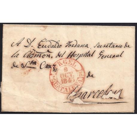 1843. ESPAÑA. SPAIN. URGELL A BARCELONA.