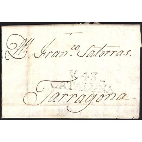 1807. ESPAÑA. SPAIN. VALLS A TARRAGONA.