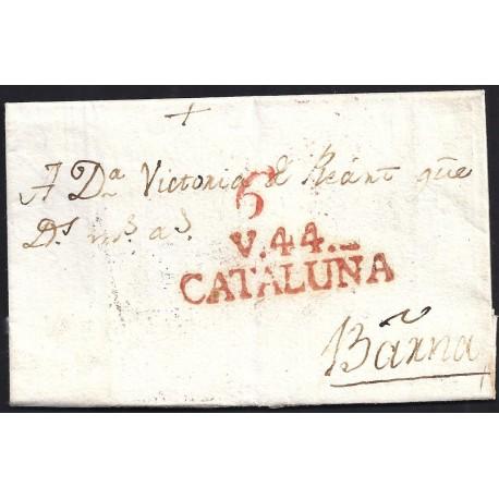 1832. ESPAÑA. SPAIN. VIC A BARCELONA.