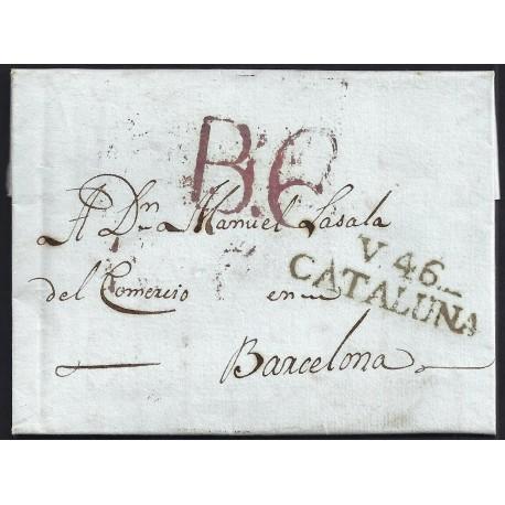 1819. ESPAÑA. SPAIN. VILANOVA A BARCELONA.
