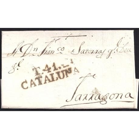 1804. ESPAÑA. SPAIN. CRETAS A TARRAGONA.