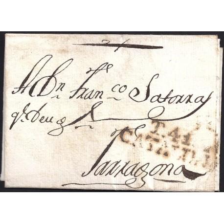 1808. ESPAÑA. SPAIN. CRETAS A TARRAGONA.