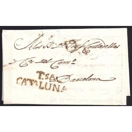 1817. ESPAÑA. SPAIN. TORTOSA A BARCELONA.