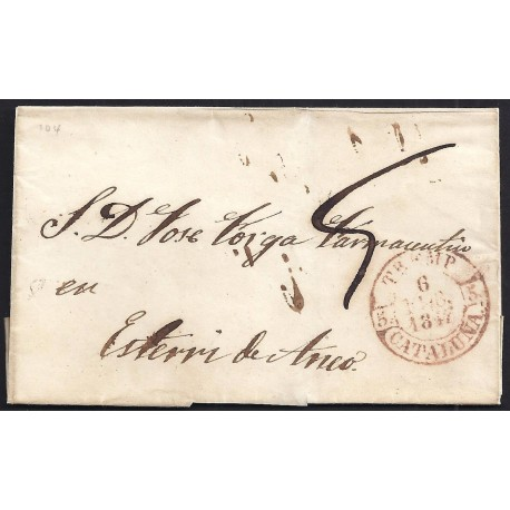 1847. ESPAÑA. SPAIN. TREMP A ESTERRI DE ANEU.