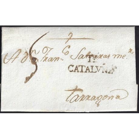 1795. ESPAÑA. SPAIN. TORTOSA A TARRAGONA.