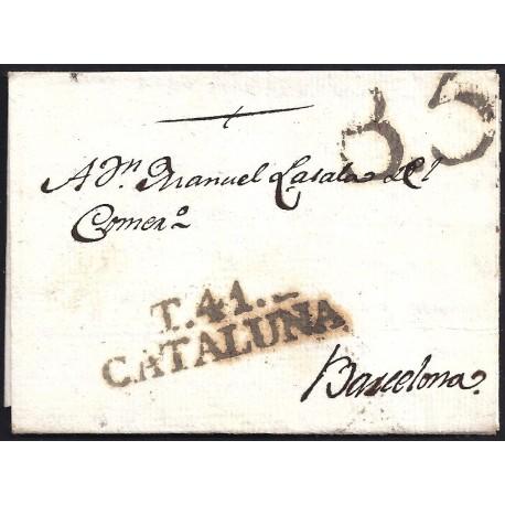 1804. ESPAÑA. SPAIN. TORTOSA A BARCELONA.