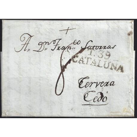 1806. ESPAÑA. SPAIN. TARRAGONA A CEDO.